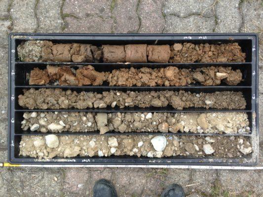 Carote di terreno per la caratterizzazione ambientale